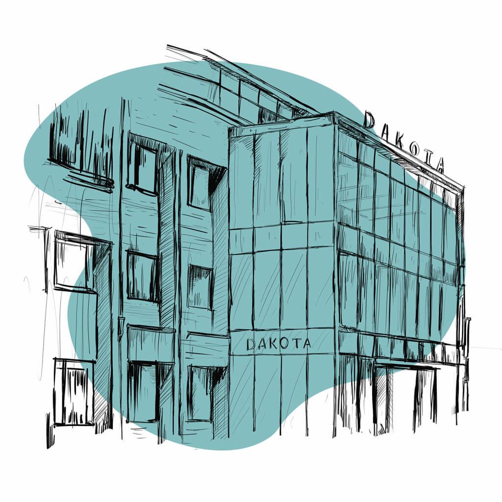 Serviced offices at Dakota, Weybridge Illustration