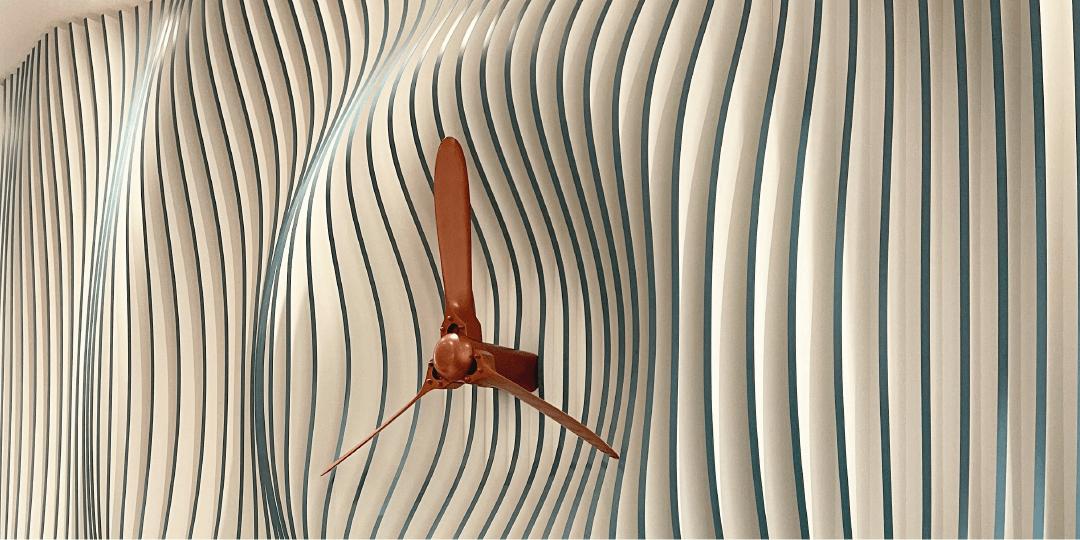 Replica DC propeller at Dakota, Weybridge Heritage image of Brooklands Aviation | Serviced offices in Weybridge